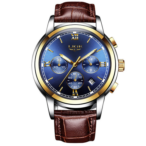 Image of LIGE Mens Water Resistant Quartz Watch - 9817-Gift-Hut