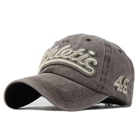 Washed Denim Baseball Cap - Khaki