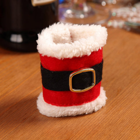 Image of Santa Claus Christmas Dinner Tableware Decoration Napkin Holders (4pcs )-Gift-Hut