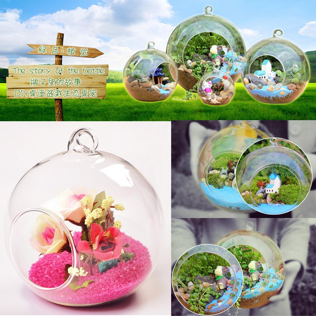 8cm Hanging Glass Terrarium-Gift-Hut