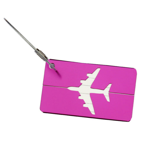 Image of Mini Rectangle Alloy Luggage Tag-Gift-Hut