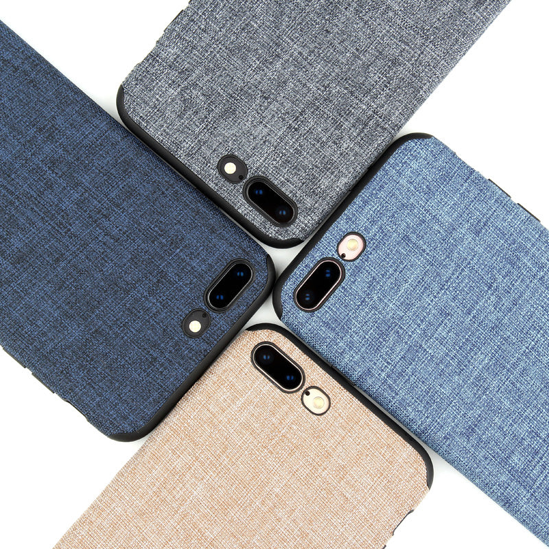 Linen Cloth Silicone iPhone 7 / iPhone 7 Plus Case-Gift-Hut