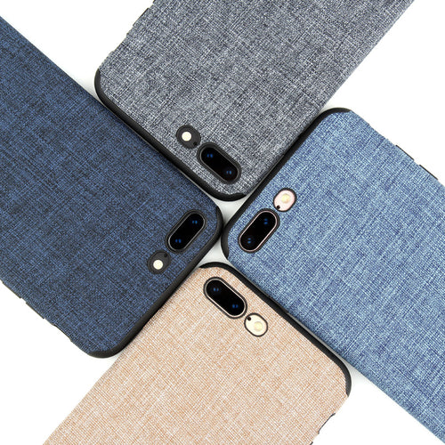 KEYSION Lanyard Case for iPhone 8 8 Plus Fashion Linen Cloth and TPU Silicone soft Anti-knock Cover for iPhone 7 iPhone 7 Plus