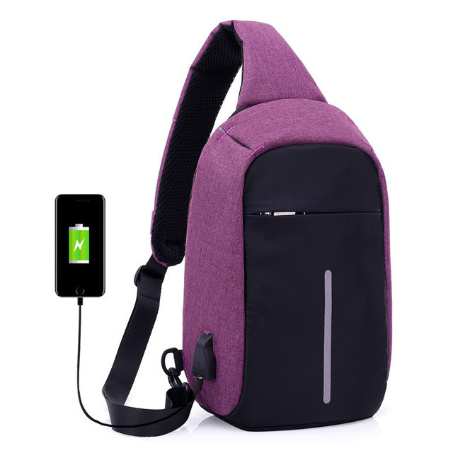 Anti-Theft USB Charging Travel Shoulder/Chest Bag-Gift-Hut