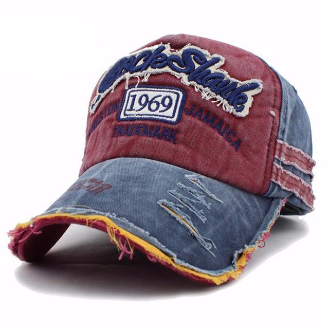 1969 Embroidered Baseball Cap - Red-Gift-Hut