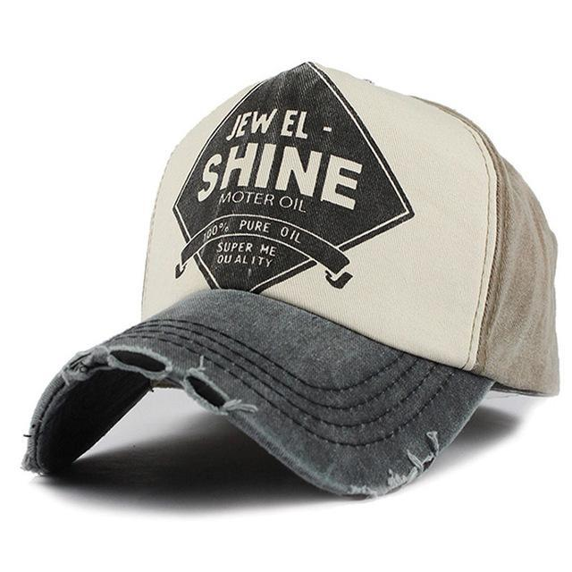 Shine Embroidered Baseball Cap - Black