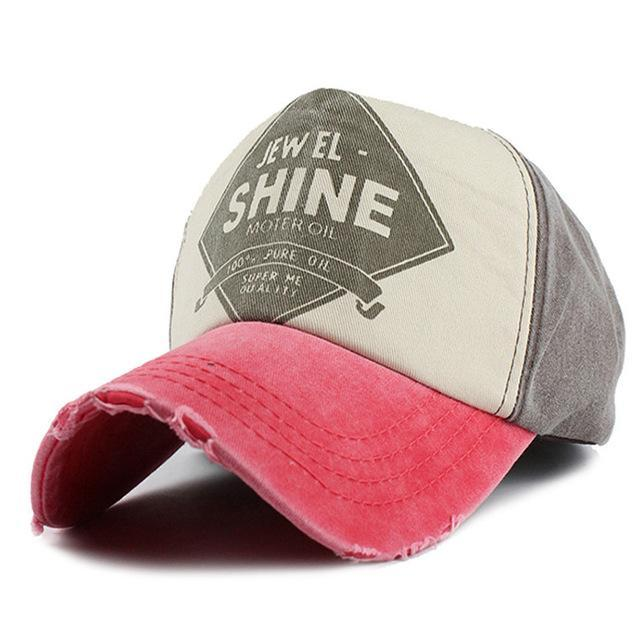 Shine Embroidered Baseball Cap - Rose