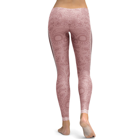 Realistic Skeleton with Zipper Leggings-Gift-Hut