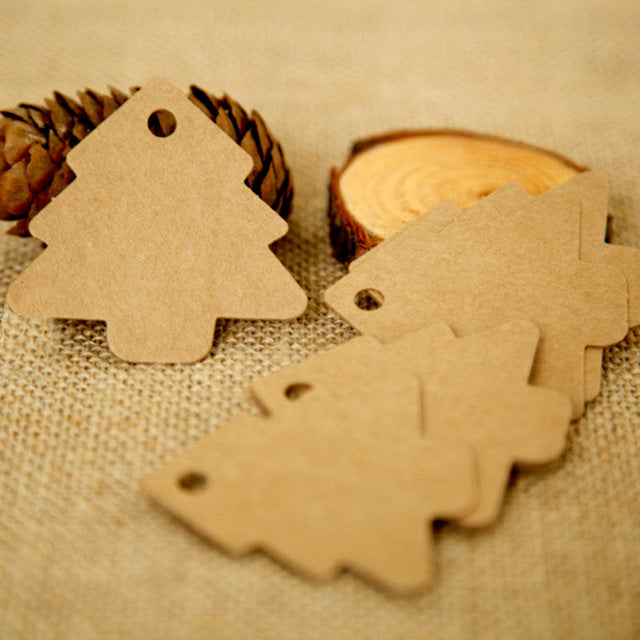 Christmas Tree Tags (50 pcs)-Gift-Hut