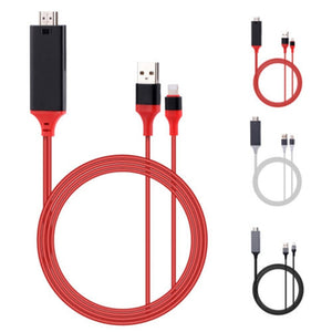 2M USB / Lightning to HDMI Cable-Gift-Hut