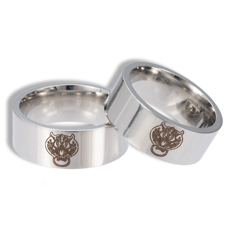 Wolf Head Stainless Steel Ring-Gift-Hut