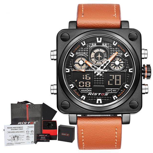 RISTOS Chronograph Multifunction Sport Watch-Gift-Hut