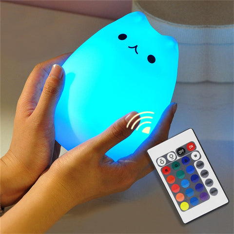 Image of Color Changing Cat Night-Light-Gift-Hut