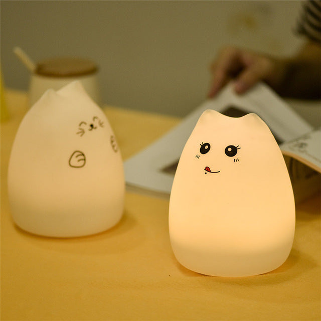 Color Changing Cat Night-Light-Gift-Hut