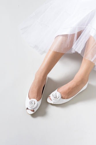Wedding FLOWER peep toes