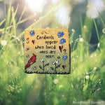 Cardinal stepping stone/ memorial stepping stone/ custom hand painted stone
