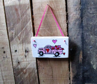 Little (pink) Red Truck: Valentine's Day, gift for her, gift for him