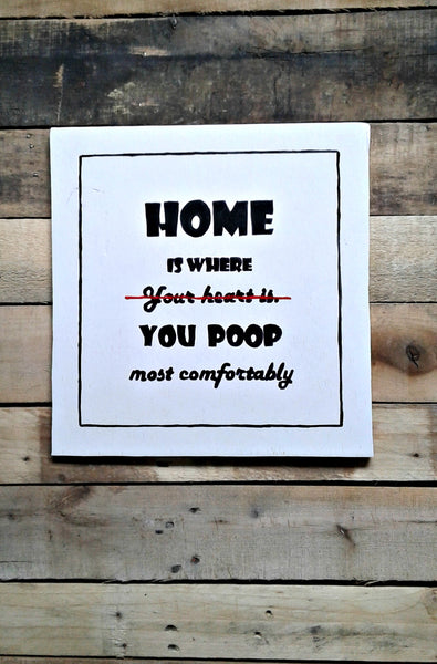 Bathroom Decor Wood Signs Bathroom Humor Morningstarart