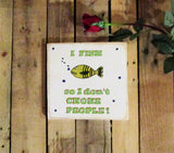 Fishing Wood Sign