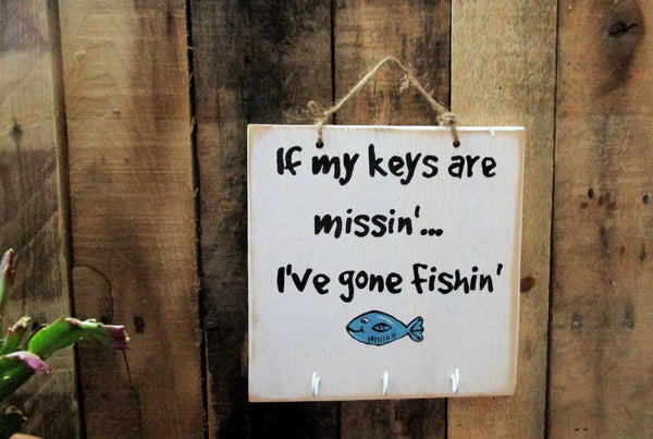 Fishin' Wood Sign: Fishing