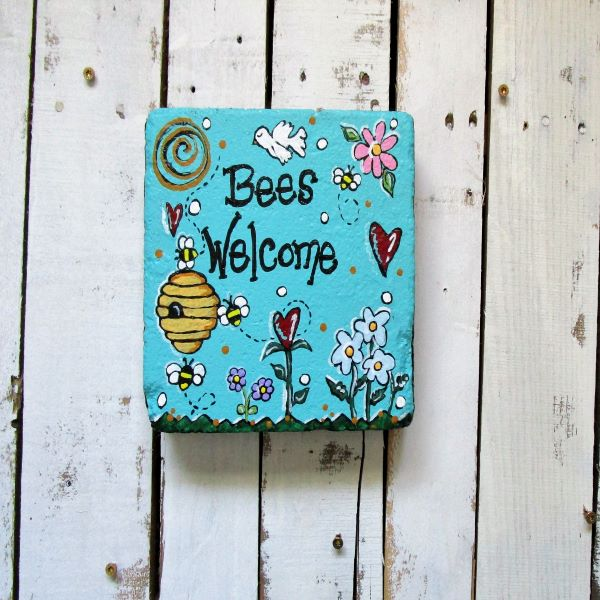 Bees Welcome Stepping Stone