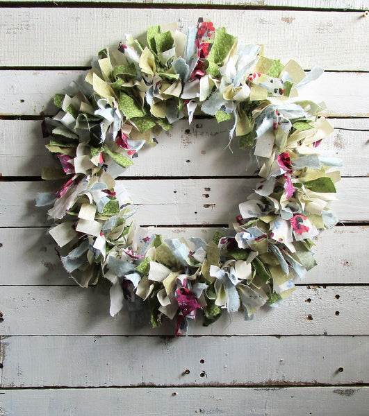 Rustic Rag Wreath