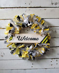 Bumble Bee Rag Wreath