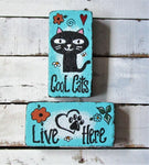 Cool Cats Welcome Stepping Stone, set of two
