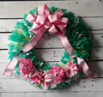 Summer Stylin' Wreath: rag style wreath