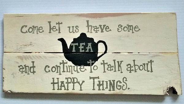 Handmade Tea Lovers Wood Sign/ tea drinker/ tea lover/ the other coffee