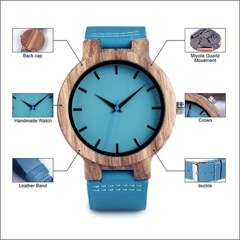Zebrawood Wrist Watch For Women