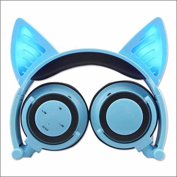 Headphone With Cat Ears - Blue