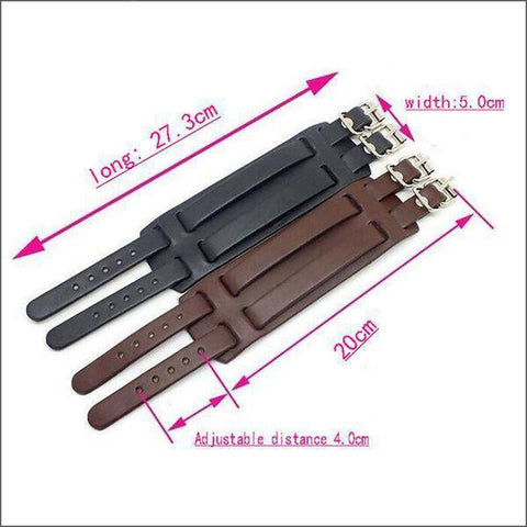 Image of Belt Punk Leather Bracelet
