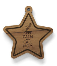 Anhänger aus Holz - Keep Calm and Call Mom