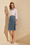 Denim zipper Skirt