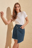 Wrap Denim Skirt