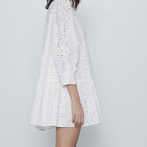 White Lace Box Dress