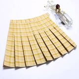 High Waist Pleated Skirt