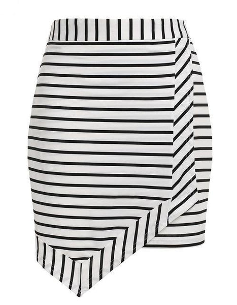 Color Block Striped Skirt