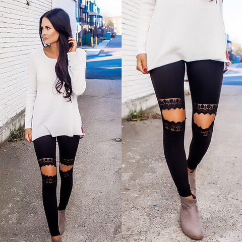 POP lace holes Leggings