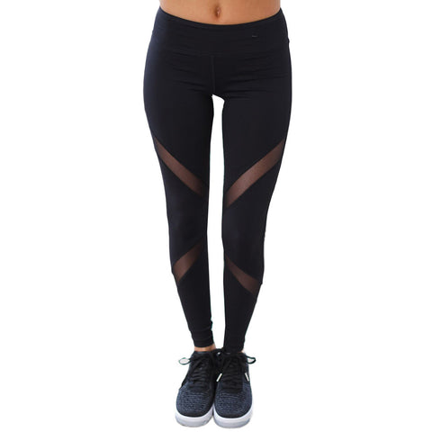 Mesh up stripes Leggings