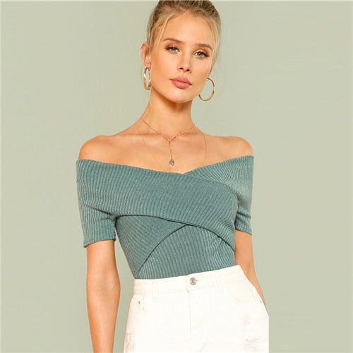 Mint Wrap Top