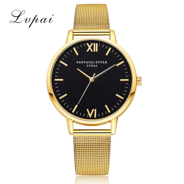 LVPAI Watches Women Stainless Steel Bracelet Analog Quartz Watch 2018 Luxury Brand Casual Wristwatches Montre femme 18FEB24
