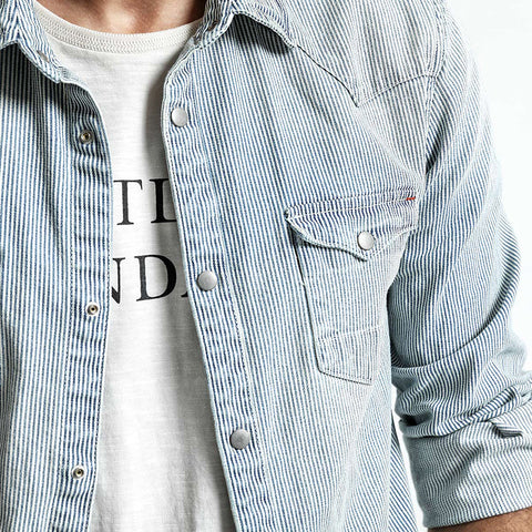 Pin stripes Denim Shirt