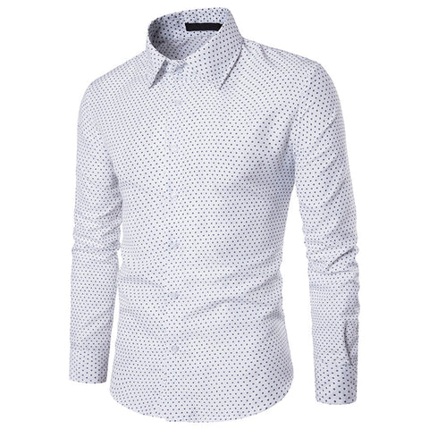 Casual Slim Fit Dots Shirts