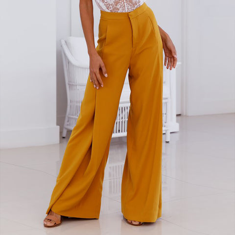 Loose Pleats Wide Leg Long Pants