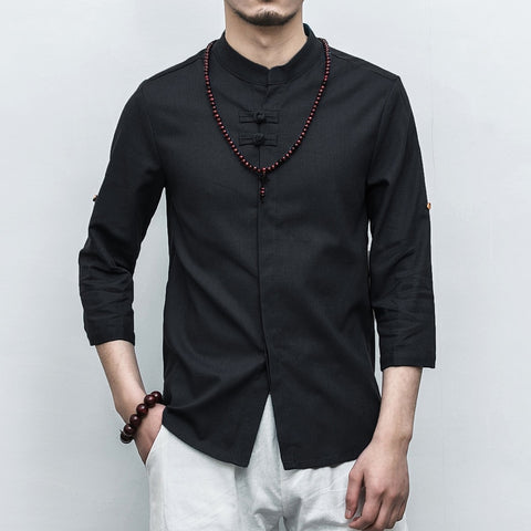 Slim fit collar shirts  with 3/4 sleeve