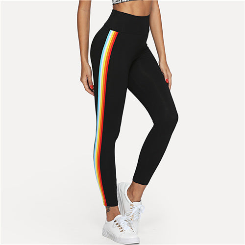Rainbow High Waist Leggings