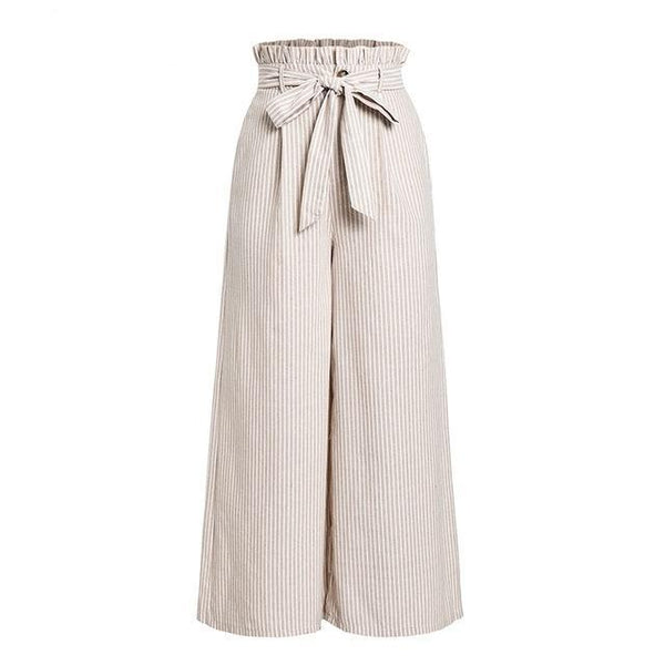 Open Flare stripes Pants