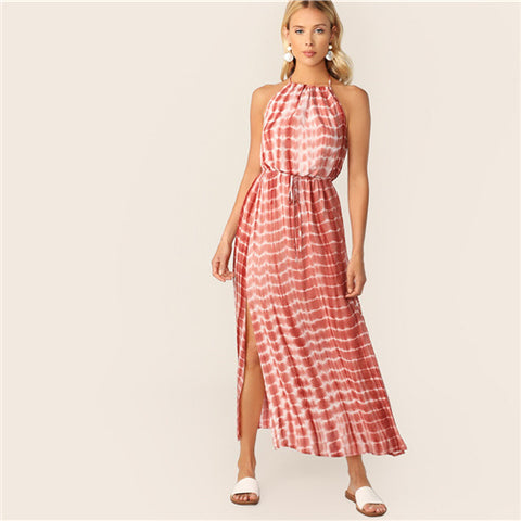 Maxi Waves Dress With Slits